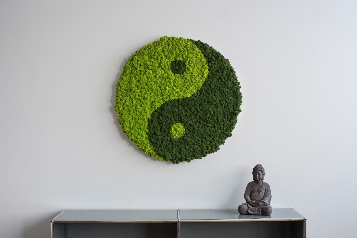 pictogram de mousse - lichen - yin yang